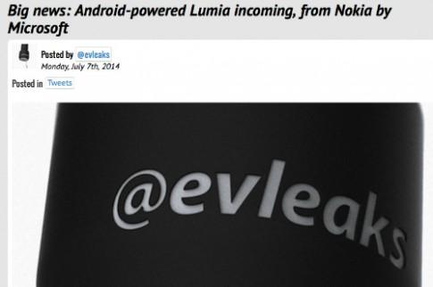 Microsoft có thể ra smartphone Android mang tên Lumia