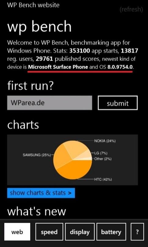 Microsoft để lộ điện thoại Surface chạy Windows Phone 8