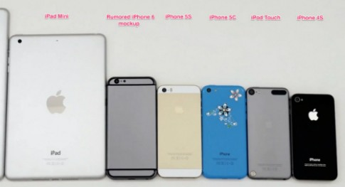 Mô hình iPhone 6 so dáng với các sản phẩm Apple