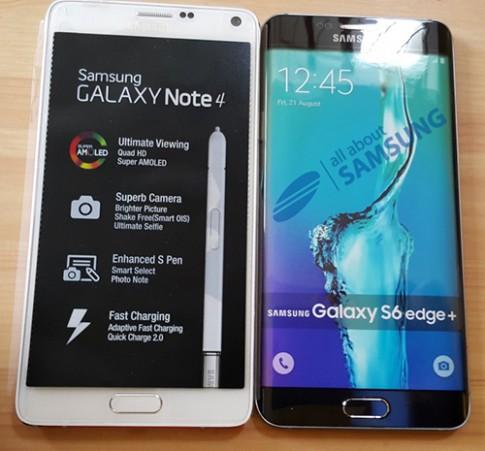 Mô hình S6 edge Plus đọ dáng Galaxy Note 4