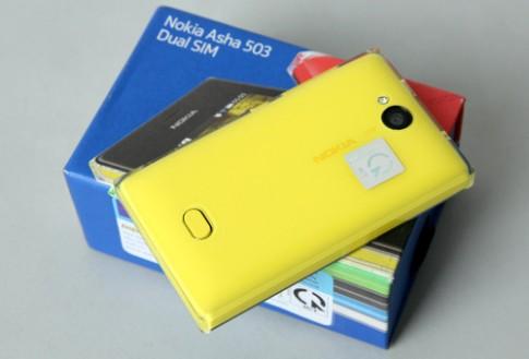 Mở hộp Asha 503 - điện thoại cảm ứng 2 SIM bắt mắt