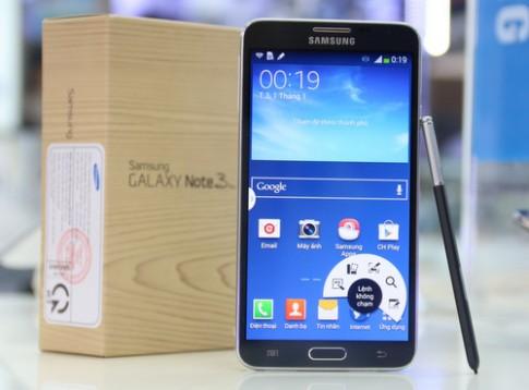 Mở hộp Galaxy Note 3 bản rút gọn giá 11,9 triệu đồng.