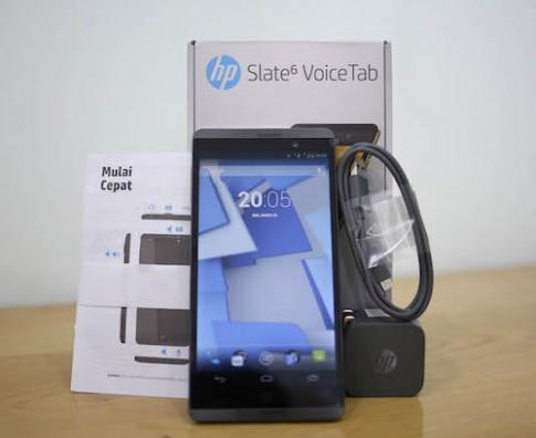 Mở hộp HP Slate 6 Voice Tab - phablet 2 sim tầm trung