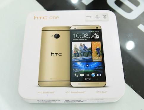 Mở hộp HTC One phiên bản màu vàng