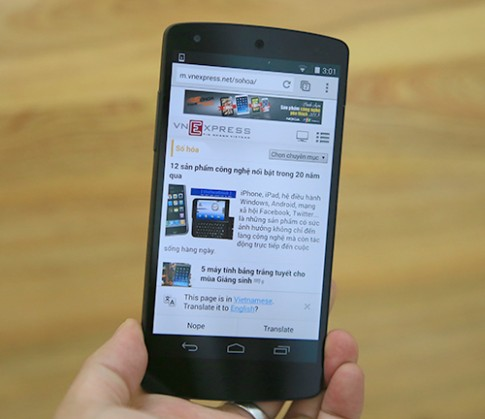 Mở hộp Nexus 5 chính hãng tại Việt Nam