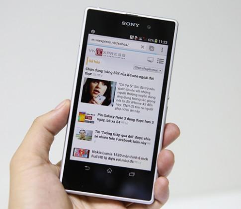 'Mở hộp' Xperia Z1 smartphone lai máy ảnh của Sony