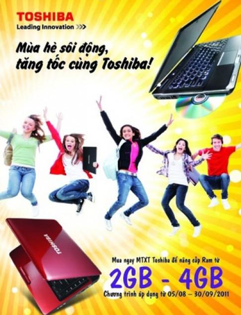 Nâng cấp RAM cho laptop của Toshiba