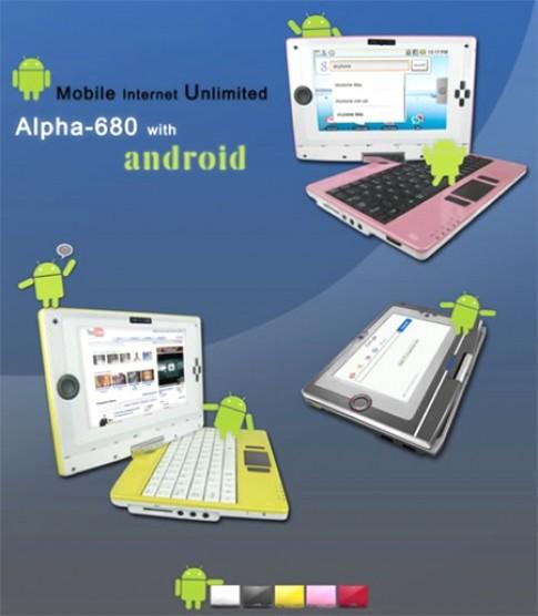 Netbook Android đầu tiên giá 250 USD