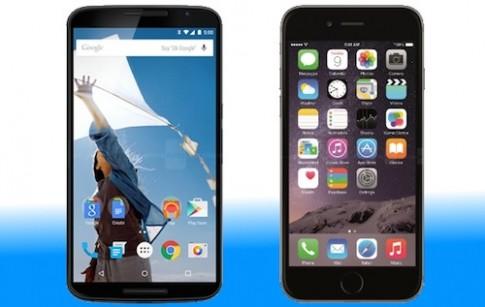 Nexus 6 đọ cấu hình iPhone 6 Plus, Note 4, LG G3