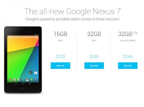 Nexus 7 2013 phiên bản có 4G LTE bắt đầu bán