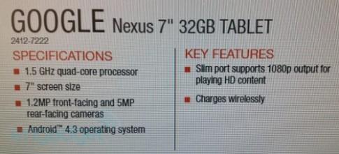 Nexus 7 thế hệ hai hỗ trợ sạc không dây, được bán từ 31/7