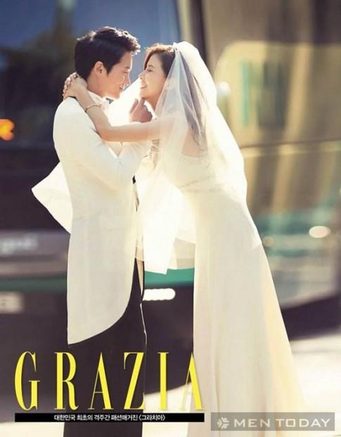 Ngắm bộ ảnh cưới ngọt ngào của Ji Sung