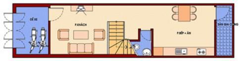 Nhà 4 tầng 3,7 x 15 m