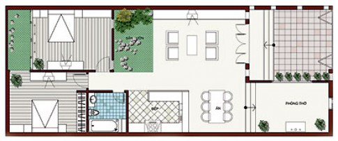 Nhà một tầng 8 x 20 m