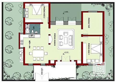 Nhà một tầng trên đất 14 x 20 m