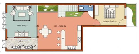 Nhà trên đất hình chữ L ngược