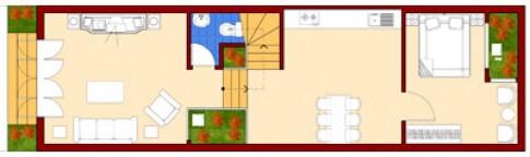Nhà trong ngõ 4,5 x 15 m