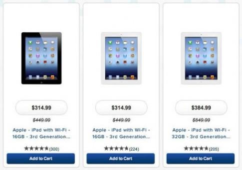 Nhiều hãng bán lẻ Mỹ giảm giá iPad thế hệ ba tới 30%
