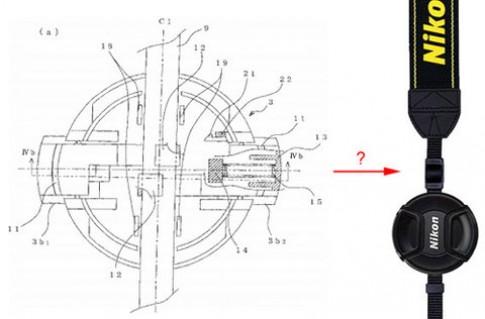 Nikon nghiên cứu giữ nắp ống kính trên dây đeo