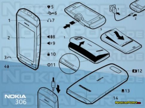 Nokia 306 màn hình cảm ứng lộ ảnh