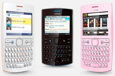 Nokia Asha 205 và 206 với nút Facebook, giá 62 USD
