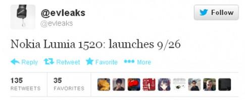 Nokia Lumia 6 inch dự kiến trình làng ngày 26/9