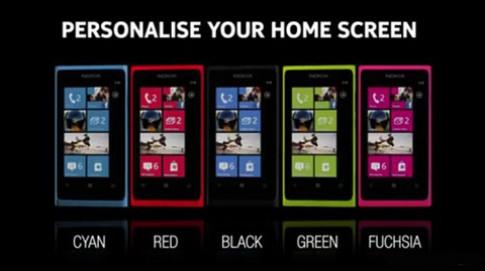 Nokia Lumia 800 thêm màu xanh lá và đỏ