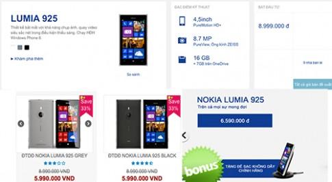 Nokia Lumia 925 giảm giá hơn 2 triệu đồng