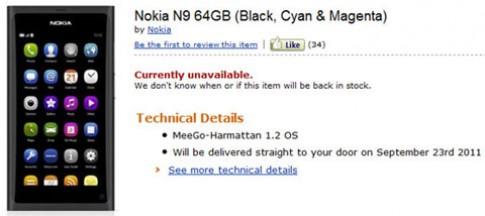 Nokia N9 hàng đặt sẽ được giao từ 23/9