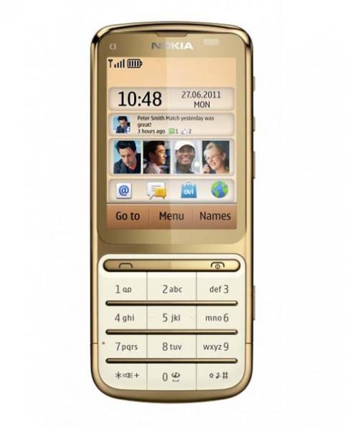 Nokia ra C3-01 Gold Edition tốc độ 1GHz