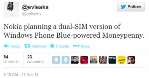 Nokia sắp có điện thoại Lumia 2 SIM