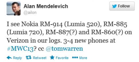 Nokia sắp tung 4 mẫu Lumia mới tại MWC 2013