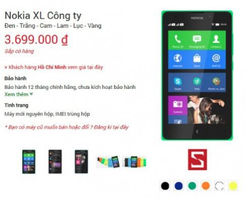 Nokia XL chính hãng giá 3,7 triệu đồng