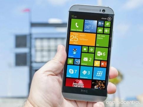 One M8 chạy Windows Phone có cấu hình giống hệt bản Android