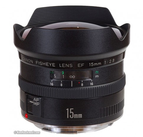 Ống 'mắt cá' Canon EF 15 f/2.8 ngừng sản xuất