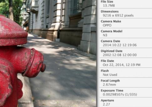 Oppo N3 có thể chụp ảnh lên tới 64 megapixel