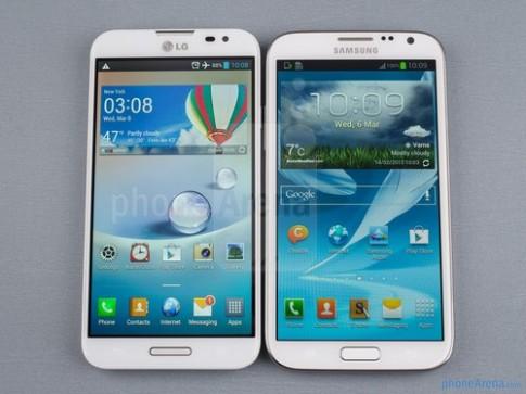 Optimus G Pro đọ dáng với Galaxy Note II