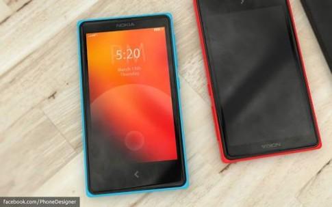 Phác họa điện thoại Nokia nhiều màu sắc chạy Android