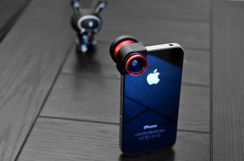 Phụ kiện giúp gắn 3 ống kính lên iPhone cùng lúc