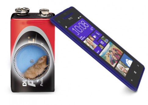 Pin HTC Windows Phone 8X thấp hơn mong đợi