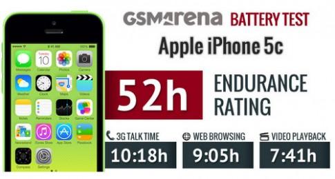 Pin iPhone 5C cho thời gian sử dụng hơn 2 ngày