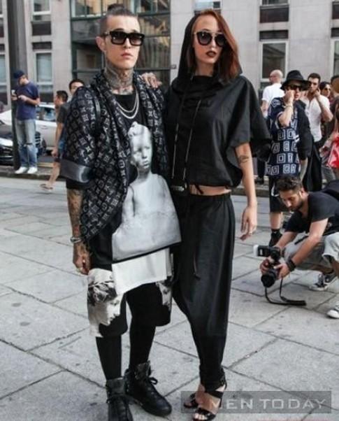 Quái kiệt thời trang xôm tụ trên đường phố Milan
