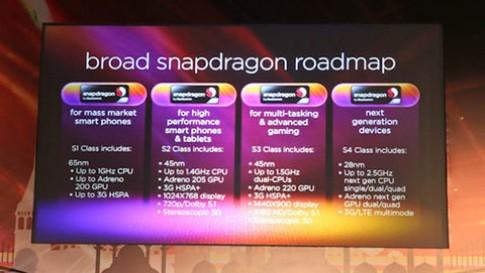 Qualcomm giới thiệu các mẫu chip di động, tablet mới