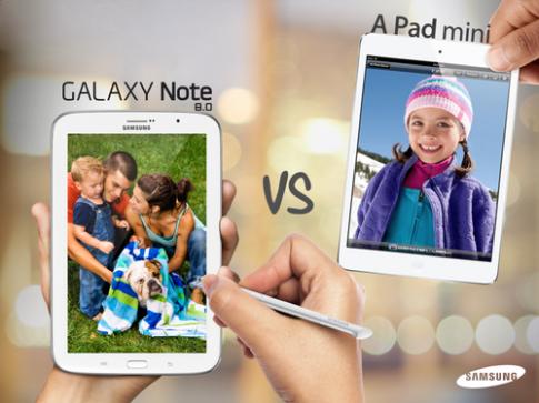 Quảng cáo Galaxy Note 8.0 'dìm hàng' iPad Mini