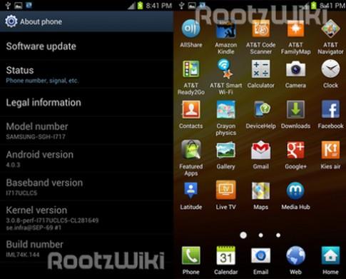 ROM Android 4.0 chính thức cho Note rò rỉ