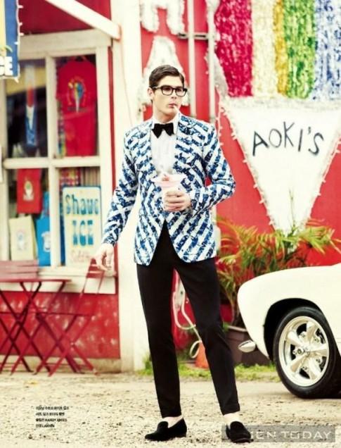 Ryan Bertroche đa phong cách trên tạp chí GQ