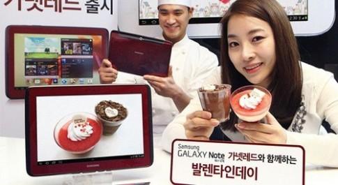 Samsung Galaxy Note 10.1 màu đỏ hồng ngọc cho Lễ tình nhân