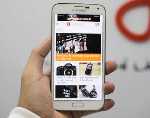 Samsung Galaxy S5 LTE-A màn hình 2K pixel về Việt Nam