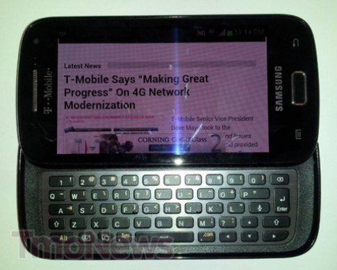 Samsung sắp có smartphone Android 4.0 phím trượt