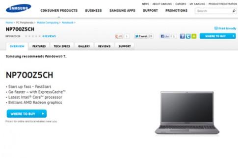 Samsung Series 7 Chronos dùng chip Ivy Bridge